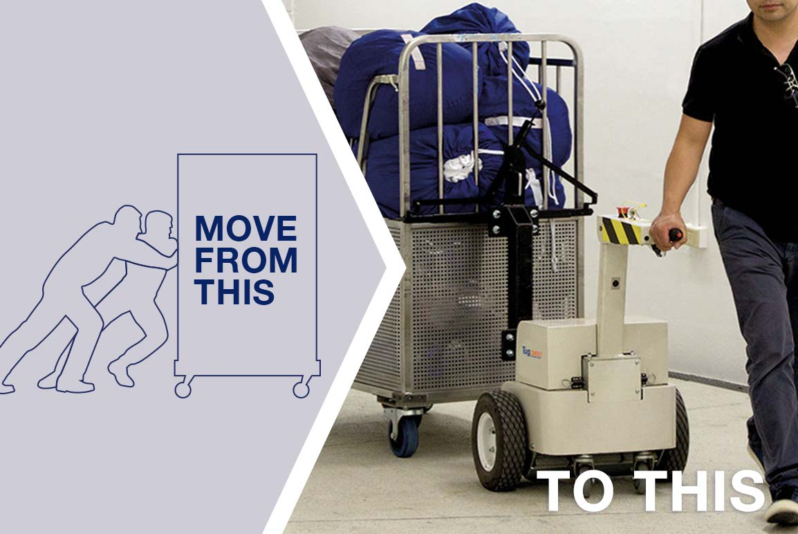 Move safely and easily with a powered linen mover