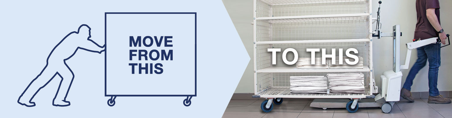 Linen movers for hospitals and hotels | Electrodrive | Australian