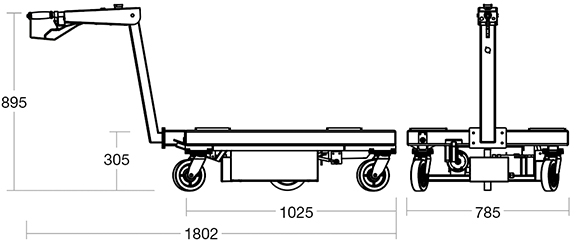 Transpak powered trolley diagram