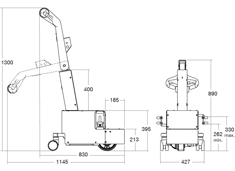 Powered wheelchair mover measurements